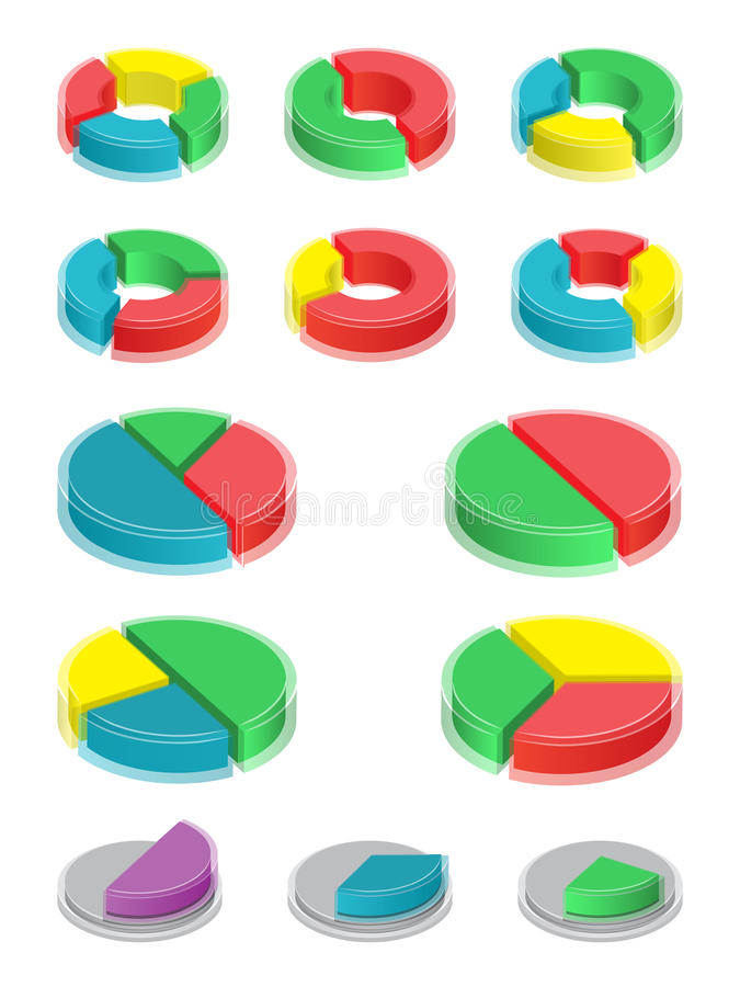 Pie Charts. Elements Of Infographic Stock Vector