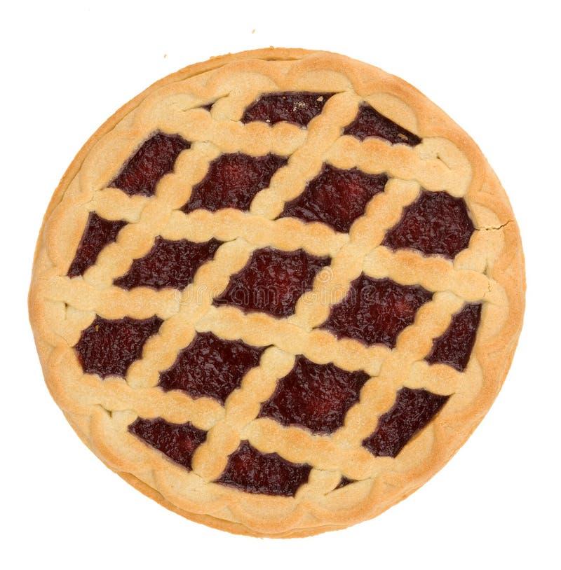 Pie with cherry jam royalty free stock photo