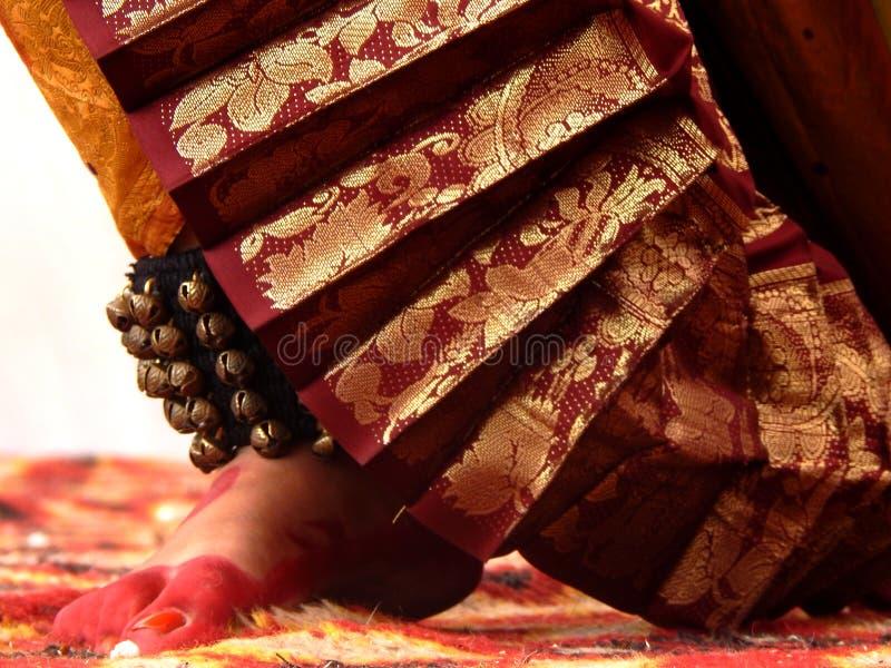 Pie de un bailarín clásico indio imágenes de archivo libres de regalías