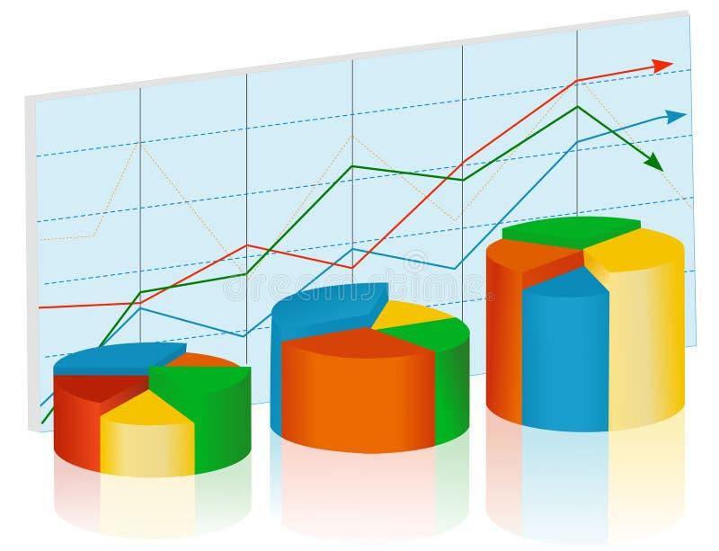 Pie diagram stock illustration