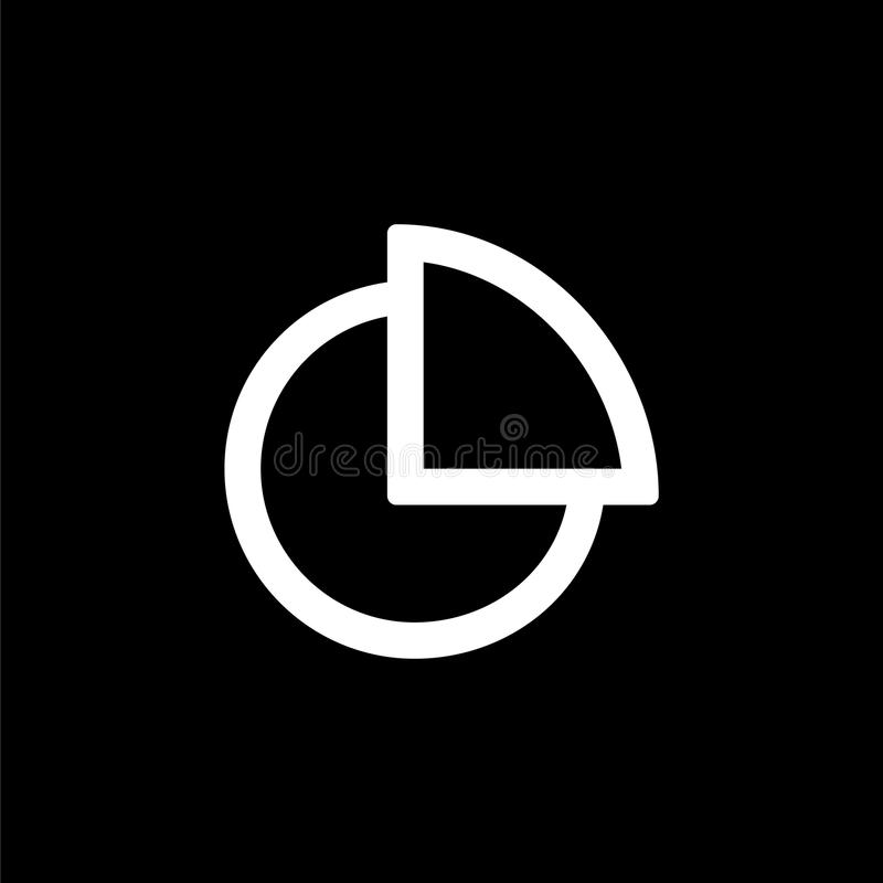 Pie diagramm icon for simple flat style ui design.  vector illustration