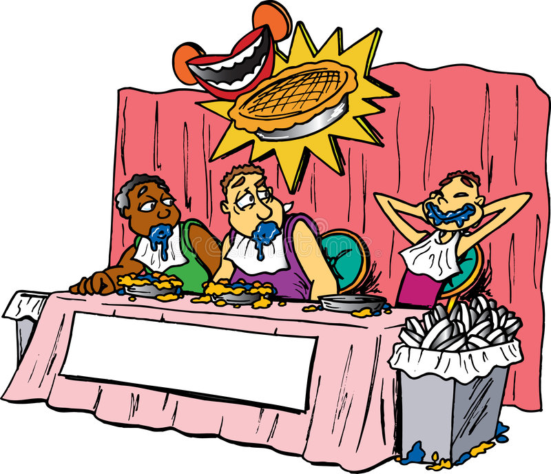 Pie Eating Contest stock vector. Illustration of contest ...