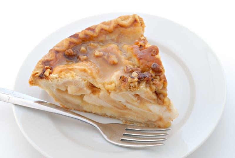 pie för äpplecaramelpecannöt fotografering för bildbyråer