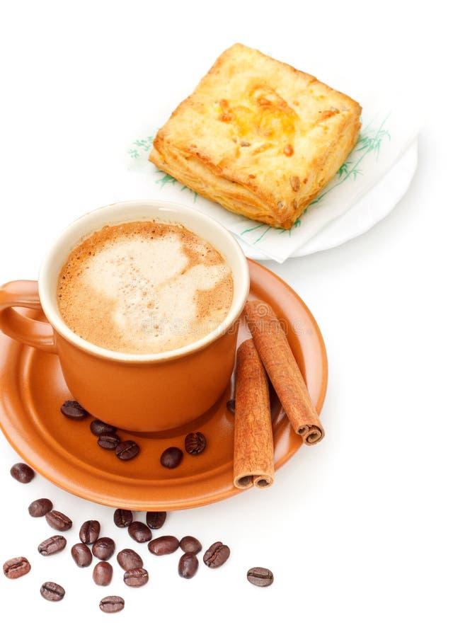 pie för kaffekopp royaltyfri fotografi