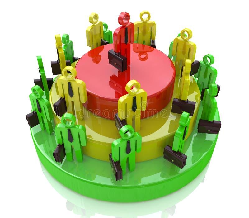 Pie growth professionals stock photo