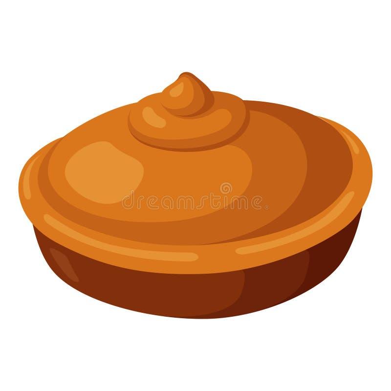 Pie-Ikone, gebacken um köstliche hausgemachte Torte lizenzfreie abbildung