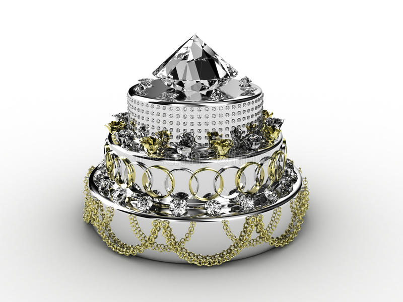 Download Pie from jewelry stock illustration. Illustration of dessert - 22449371