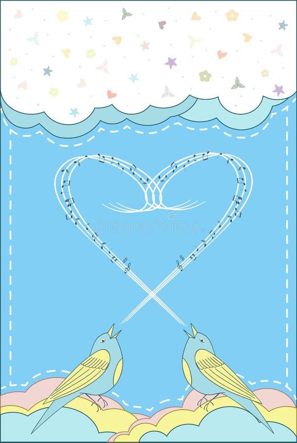 Download Pieśniowy ptak ilustracji. Ilustracja złożonej z ptak - 57663047