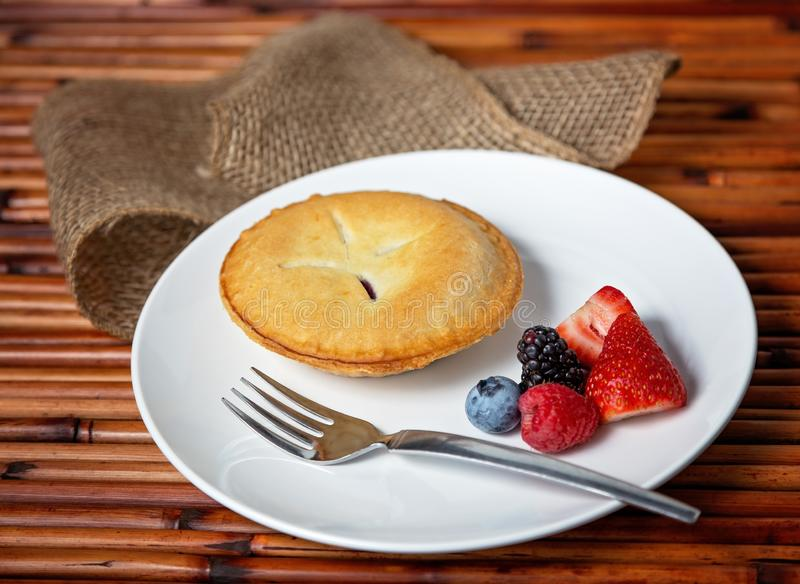 Pie setting 3 royalty free stock photography