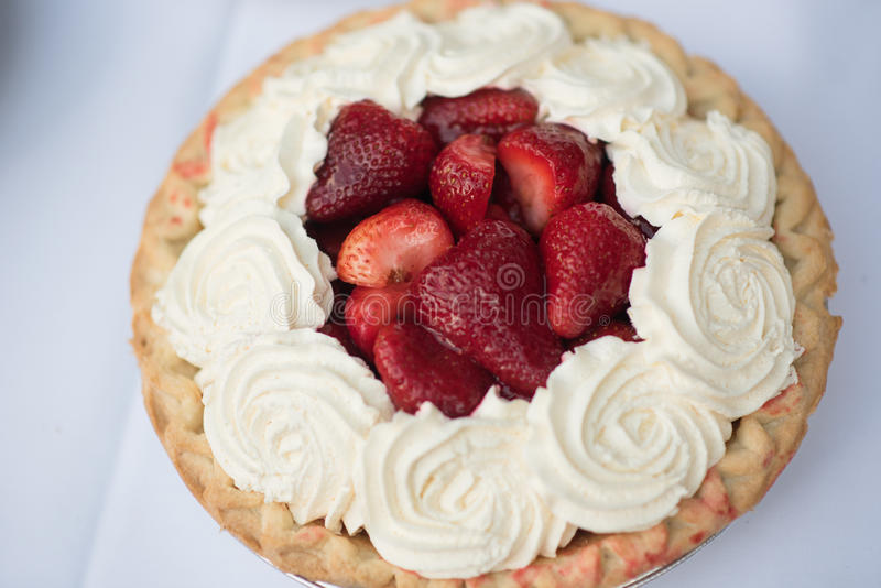 Pie Strawberry stock images