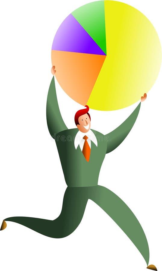 Pie success stock illustration