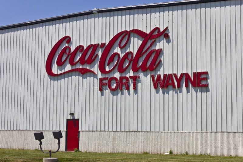 Pie Wayne, ADENTRO - circa julio de 2016: Coca-Cola que embotella, el Largest Beverage Company del World's II imágenes de archivo libres de regalías