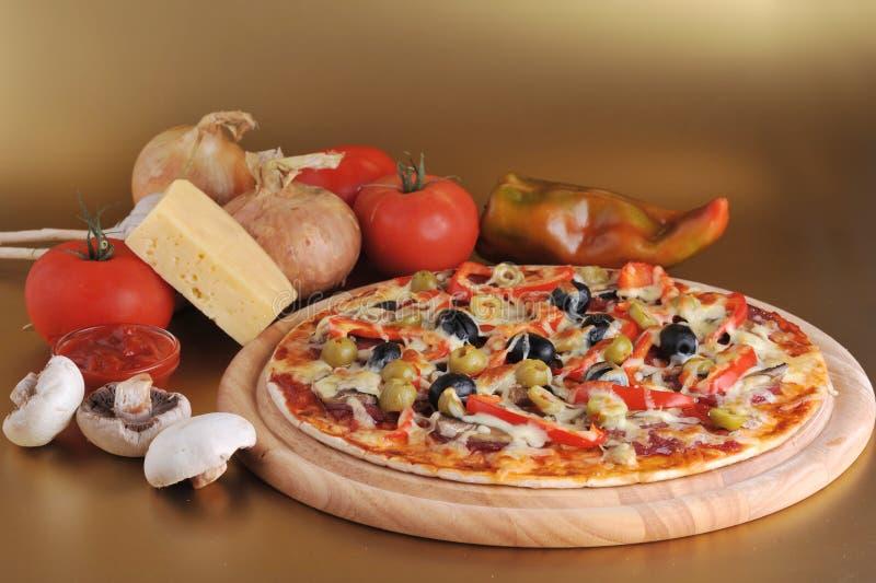 piec świeża pizza zdjęcie royalty free