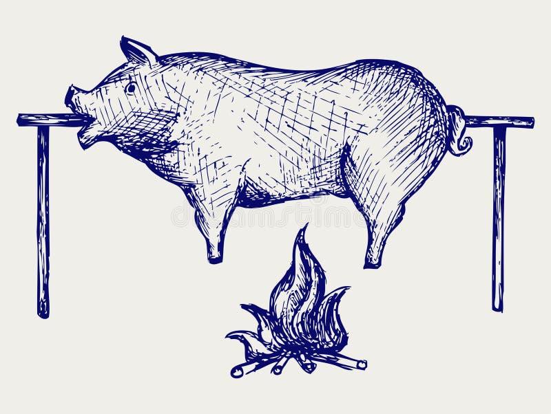 Piec świnia ilustracji