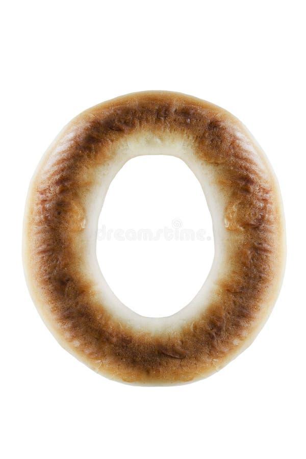 Piec bagel odizolowywający zdjęcia stock