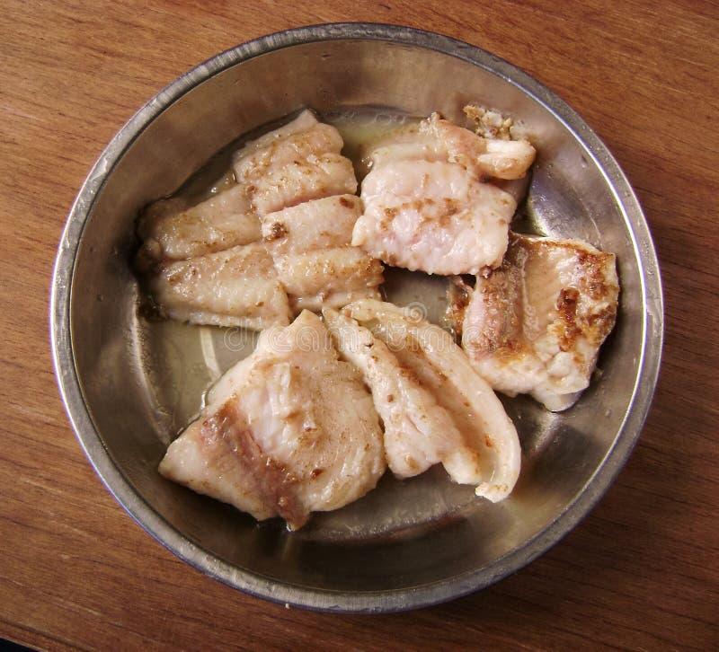 Piec flądra rybi posiłek zdjęcie royalty free