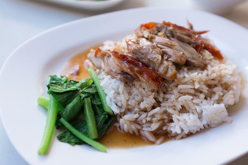 Piec kaczka ryż obrazy stock
