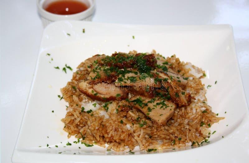 Piec kaczka z ryż i kumberlandem zdjęcia stock