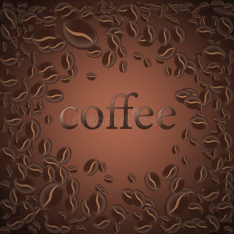 Piec kawowa fasola, wektorowy ilustracyjny tło dla projekta strony ilustracja wektor