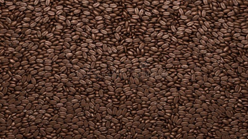 Piec Kawowych fasoli tekstura lub tło ilustracja wektor