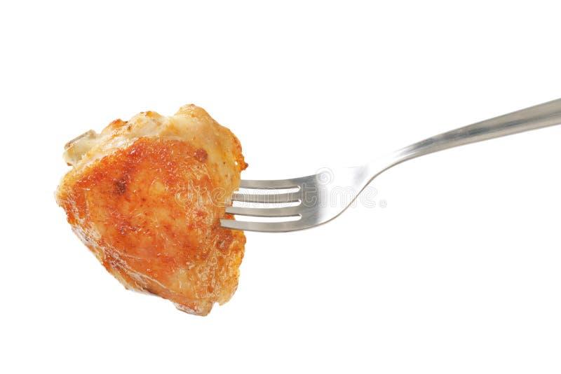 Piec kurczaka udo zdjęcie royalty free
