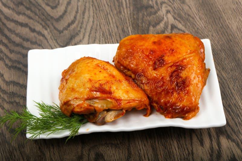 Piec kurczaka udo obraz royalty free