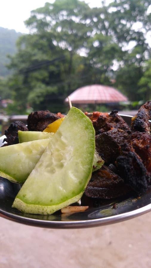 Piec na grillu bufet zdjęcie royalty free