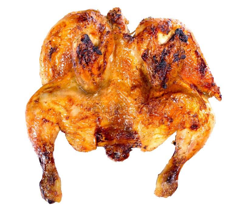 Piec na grillu cały kurczak marynował w miodu i soj kumberlandzie, odizolowywającym obrazy stock