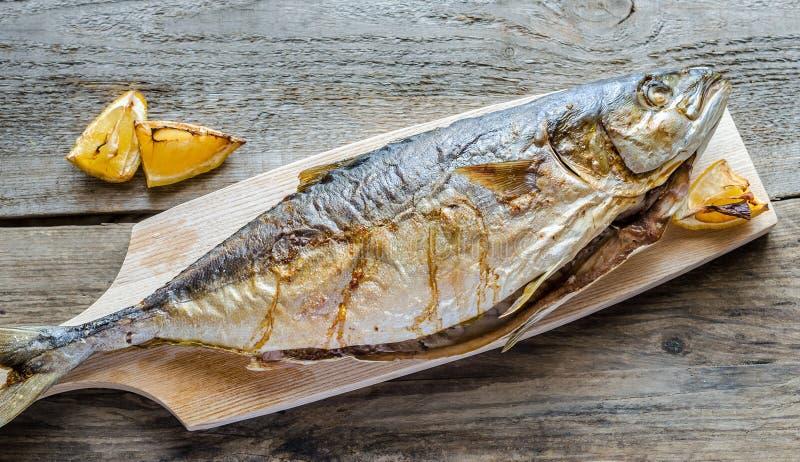 Piec na grillu Japońska amberjack ryba obrazy stock