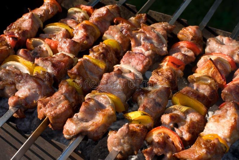 piec na grillu kebaby fotografia stock