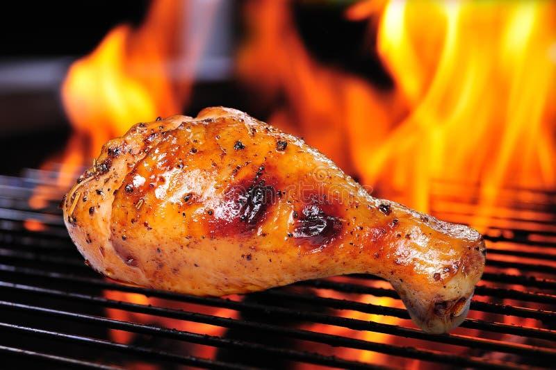 Piec na grillu kurczak zdjęcia royalty free