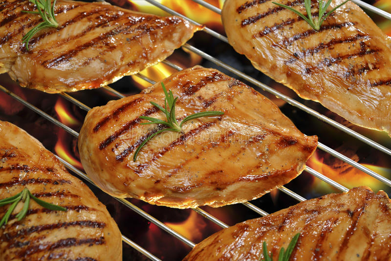 Piec na grillu kurczak obraz stock