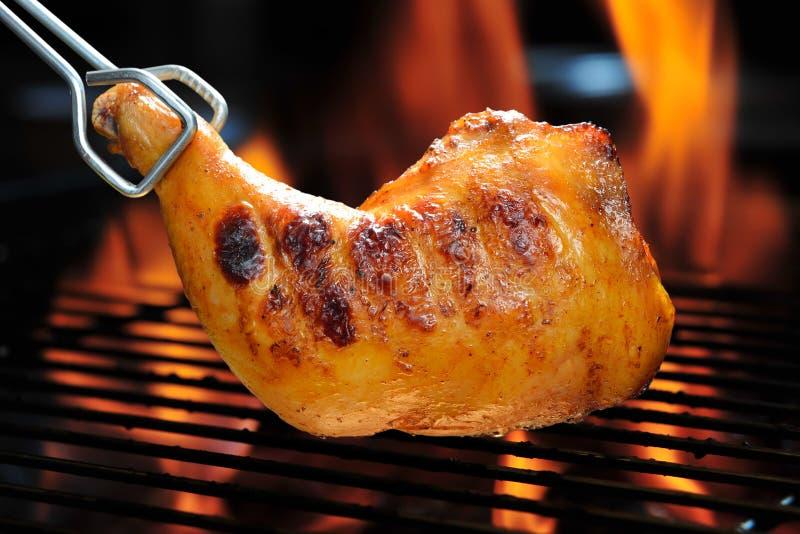 Piec na grillu kurczak zdjęcia stock
