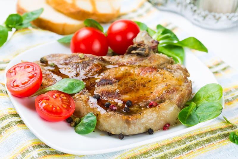 Piec na grillu mięso zdjęcie stock