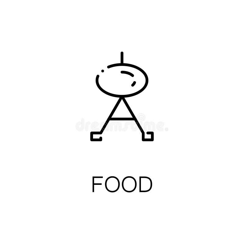 Piec na grillu płaską ikonę lub loga dla sieć projekta ilustracja wektor