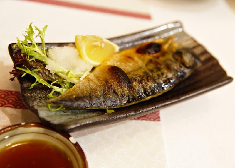 Piec na grillu ryba zdjęcia royalty free