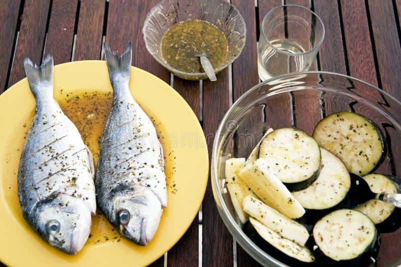 Piec na grillu ryba obraz stock