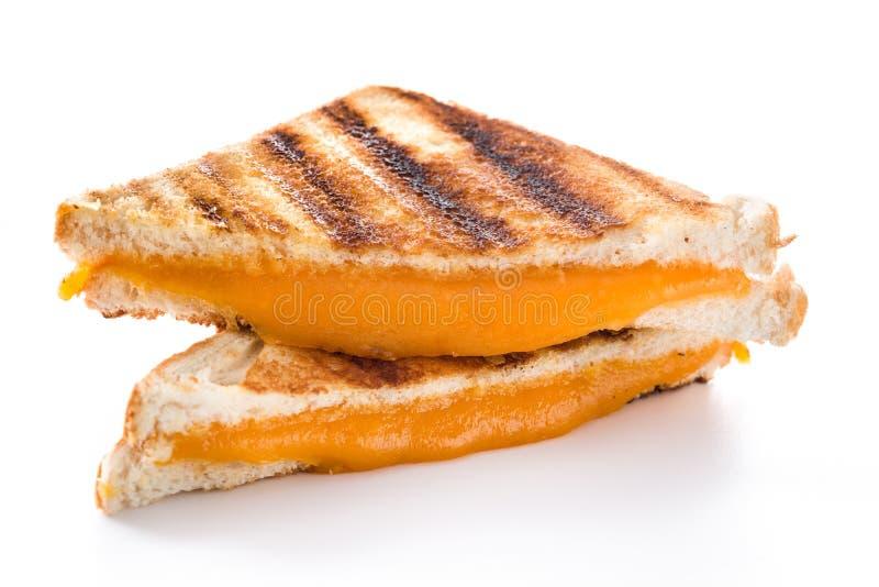 Piec na grillu Serowa kanapka odizolowywająca zdjęcia royalty free