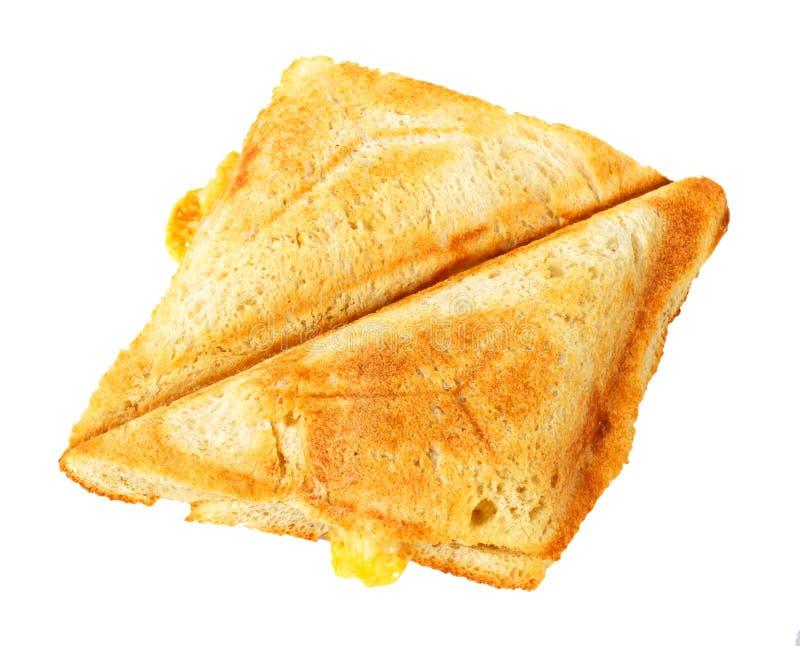 Piec na grillu Serowa kanapka odizolowywająca fotografia royalty free