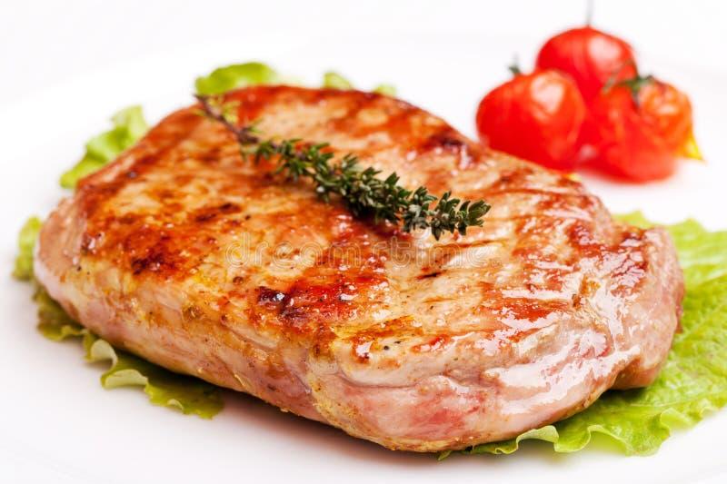 piec na grillu stek zdjęcie stock