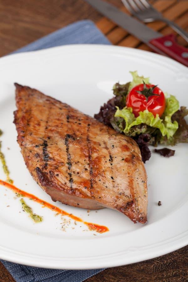 Piec na grillu stek zdjęcie royalty free