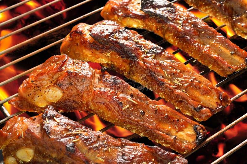 Piec na grillu wieprzowina zdjęcie stock