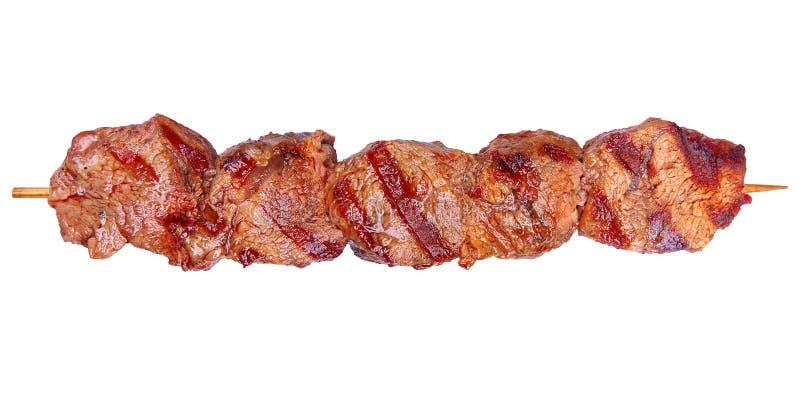 Piec na grillu wieprzowiny mięso fotografia royalty free