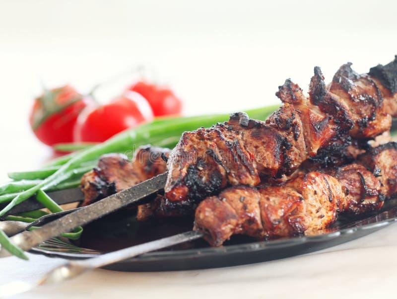 Piec na grillu wieprzowiny mięso obrazy stock