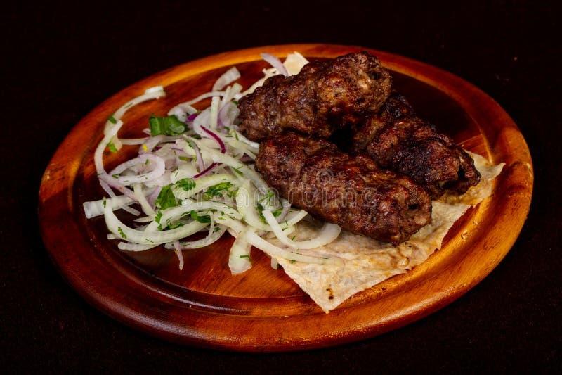 Piec na grillu wołowiny kebabu kofta obrazy royalty free