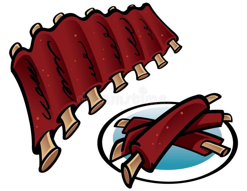 piec na grillu ziobro ilustracja wektor