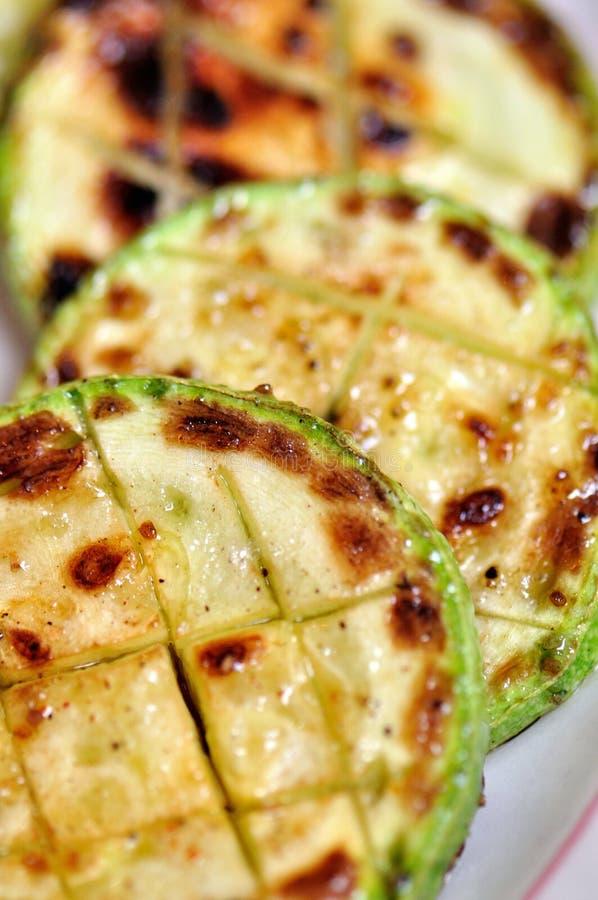 piec na grillu zucchini obrazy stock