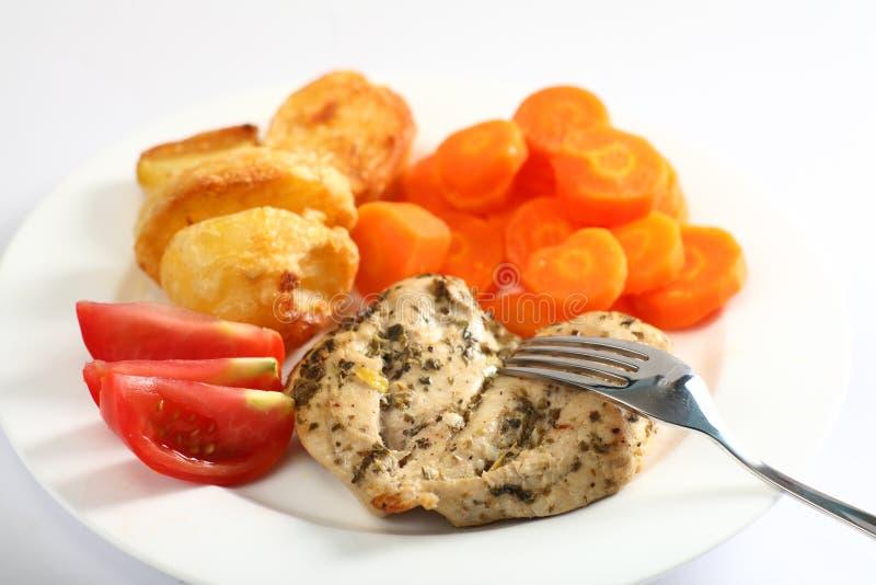piec piersi kurczak herbed posiłek zdjęcie stock