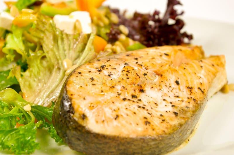 piec sałatkowy łososiowy stek zdjęcia royalty free