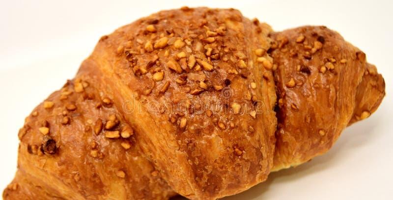 Piec towary, Croissant, chleb, żyto chleb zdjęcie royalty free